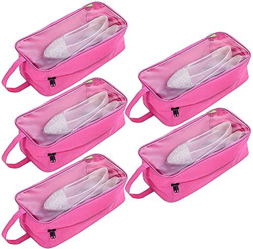5 bolsas organizadoras para zapatos, impermeables, portátiles, con cremallera y asa, tela Oxford, bolsa de viaje para zapatos para hombre y mujer, azul, 34*11*17cm, Bolsa de zapatos