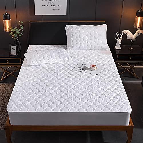 NTtie Protector de colchón Acolchado - Microfibra - Funda para colchon estira hasta Protector de colchón Impermeable de una Pieza para Hotel