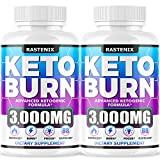 Keto Diet Pills - (2-Pack | 176 Capsules) - Keto Pills for Keto Burn & Energy - Perfect Keto Fast Bhb Capsules with Apple Cider Vinegar for Weight Managment - Vegan Keto Fit Advanced Formula