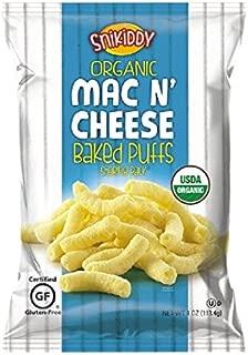 Snikiddy Organic Mac n' Cheese Baked Puffs 4 oz. Bag (6 Bags)