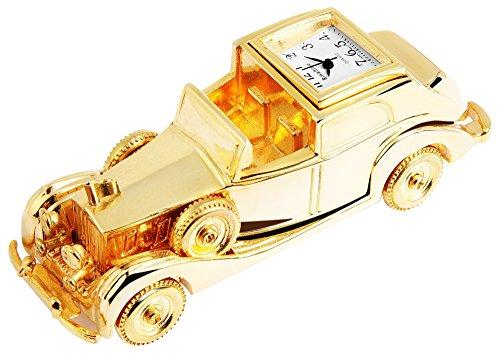 Miniatuurhorloge - auto - grootte 8,8 cm