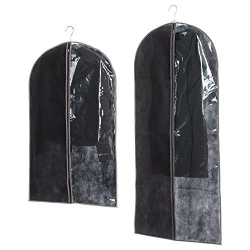 ID Space - Juego de 2 fundas para disfraz (135 x 60 y 100 x 60 cm), color negro y gris