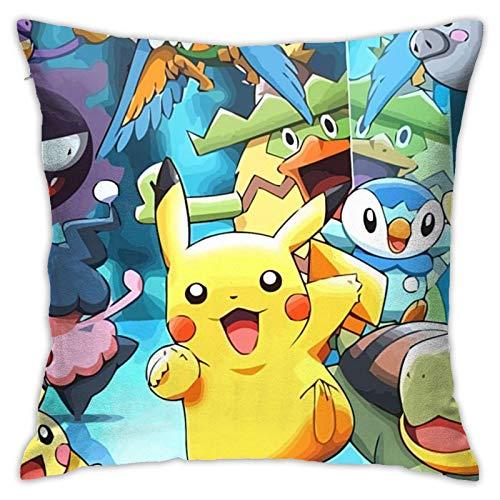 Pok-e-mon Go - Funda de cojín decorativa para el hogar, para hombres, mujeres, niños/niñas, sala de estar, dormitorio, sofá, silla, funda de almohada de 45,7 x 45,7 cm