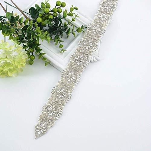 Wedding Sash Ivory Belt Wedding Belt Sash Belt Pearls Belt Rhinestone Belt Belt Rhinestones and Pearls Sash Bridal Sash Wedding Sash Ivory Dress Sash Ra249 -M96 (310-17'', Silver)
