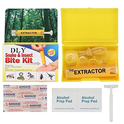 Snake Bite Kit, Bee Sting Kit, Emergency First Aid Supplies, Venom Extractor Suction Pump, Bite and...