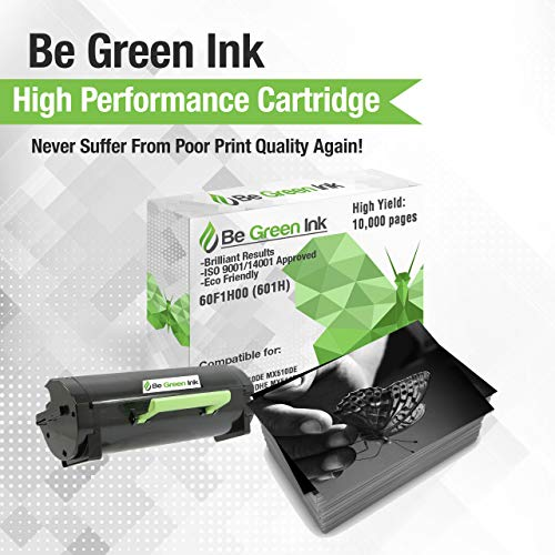 Be Green Ink Lexmark 60F1H00 601H Compatible Toner Cartridge for MX310dn MX611de MX511de MX410de MX611dhe MX610de MX511dhe MX510de MX511dte MX611dte MX611dfe (High Yield 10,000 Pages) Photo #3