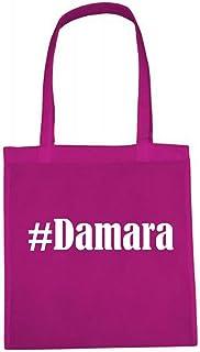 Tasche #Damara Größe 38x42 Farbe Pink Druck Weiss
