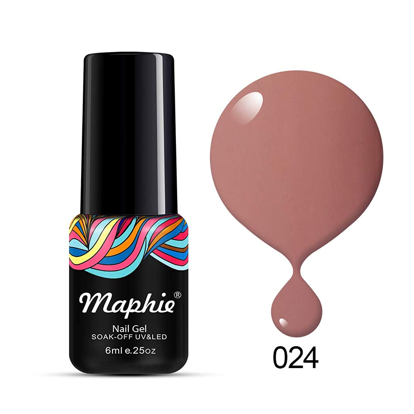 MAPHIE Soak Off UV LED Color Gel Nail Polish - Charming Nude 6ml