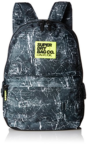 Superdry - Marble Montana, Mochilas Hombre, Nero (Marble Black), 30.0x45.0x15.0 cm (W x H L)