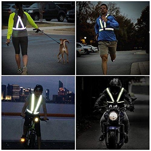 Warnwesten ,Adkwse Warnweste Gurt Reflektorweste Einstellbar Fahrrad Warnweste mit Reflective Cuffs für Herren,Damen(2er Packs) - 7