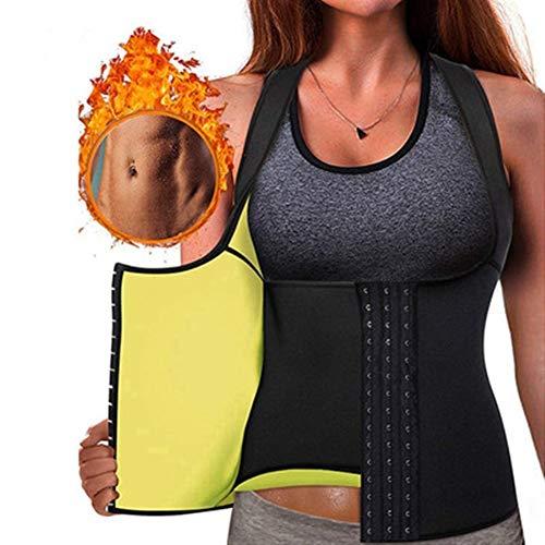 Fajas Reductoras Adelgazantes Camiseta Reductora Sauna Chaleco Neopreno de Sudoración para Deporte Fitness (Color : Black, Size : S)