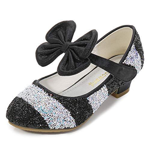 YOSICIL Zapatos Tacón Altos Niña Zapatos de Disfraz Princesa Zapatos de Tango Latino Niña Sandalias de Vestir Navidad Cumpleaños Regalo Infantil 3-14 Años