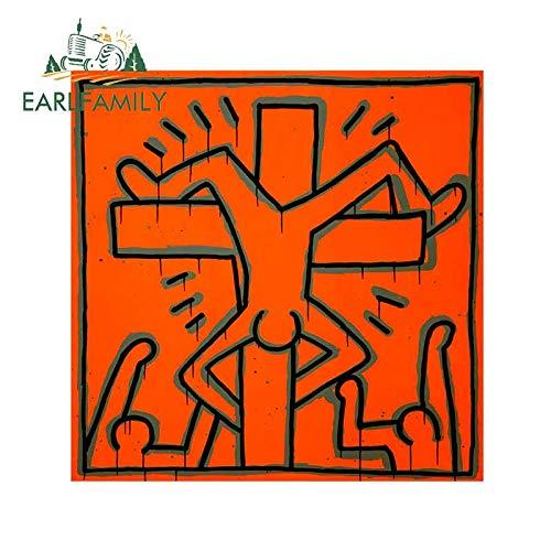 A/X 13 cm 12,9 cm para Keith Haring, Pegatinas de Coche DIY, calcomanía de Aire Acondicionado automático, gráficos de Personalidad para Van RV
