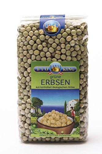 BioKing 4x 500g Bio ERBSEN grün, ungeschält (EUR 2,39 / Pkg.)