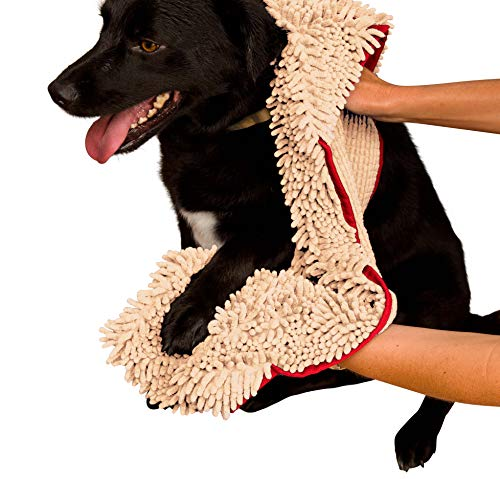 Soggy Doggy – Super Shammy – Microfiber Chenille Dog Towel with Hand Pockets