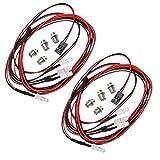 lahomia 8 Piezas Blanco + Rojo LED Faro Luces Traseras Brillantes para 1/10 D90 RC Car