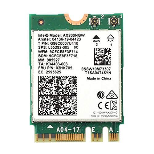 LIANA IRWIN Wi-Fi 6 AX200NGW NGFF - Tarjeta de red inalámbrica Intel AX200NGW WIFI6 2400M Gigabit integrada NGFF Bluetooth 5.1