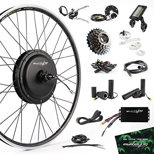 EBIKELING 48V 1200W 700C Direct Drive Front Or Rear Waterproof Electric Bicycle Conversion Kit