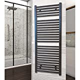 Radiador Toallero Agua Negro. Secatoallas para calefacción de Agua. Secatoallas Negro (80x50x45 cm)