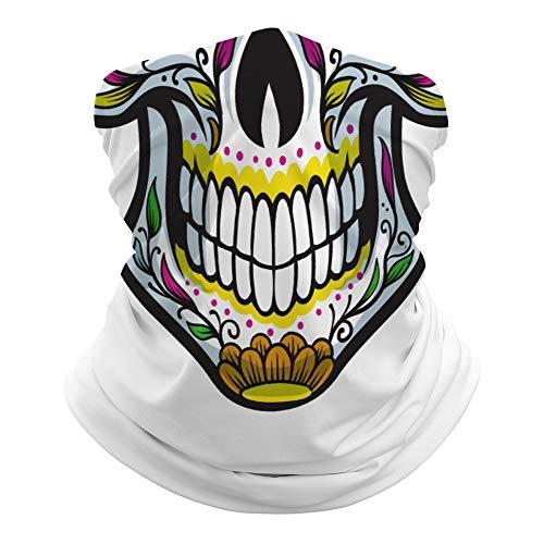 Foulard demi-squelette polyvalent pour le visage la bouche le visage la bouche la tête de mort imprimé magique bandeau hippie cravate cache-cou pour extérieur résistant à la poussière Lr0tr2u19l3c
