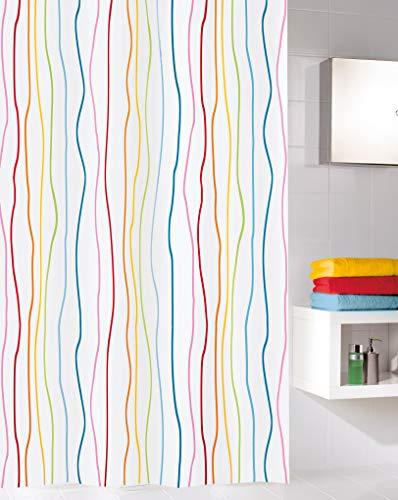 Kleine Wolke Jolie Duschvorhang, Textil PES, Multicolor, 120x200 cm