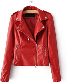 juniors red leather jacket