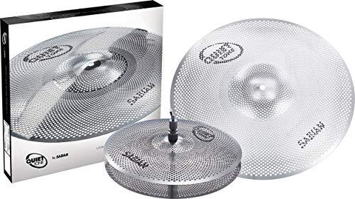 """Sabian QTPC501 Quiet Tone Practice Cymbal Set -Silver- 13""""/18"""" (QTPC501)"""
