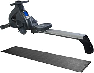 Stamina Avari Programmable Magnetic Exercise Rower with Fold-to-Fit Folding Equipment Mat (84-Inch by 36-Inch)