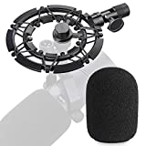 YOUSHARES SM7B Shock Mount with Pop Filter Matching Mic Boom Arm Stand, Compatible with Shure SM7B Microphone