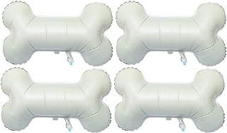 NUOBESTY 4pcs Bone Shaped Balloons Aluminum Foil Funny Large Bone Helium Balloons Decorative Mylar Balloons for Pet Dog Bi...
