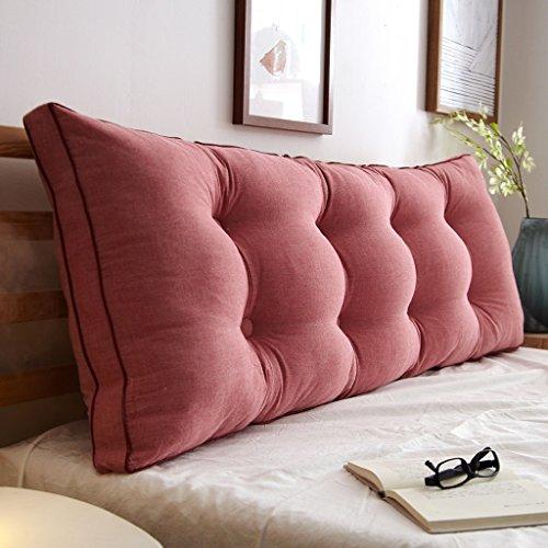Hongyan Doppelbett Pillow/Pillowtop-Matratze, Nachttisch/Sofas/Büro/verfügbar für die Taille/Lesematte Kissen (Farbe : A, größe : 120 * 50 * 20cm)