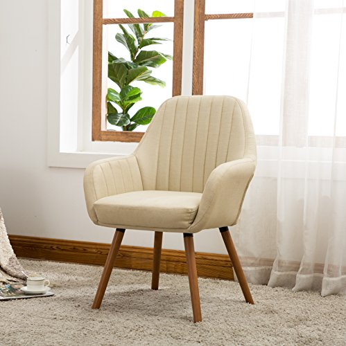 Roundhill Furniture Tuchico Contemporary Fabric Accent Chair, Tan