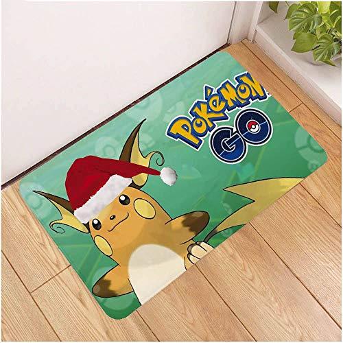 Deurmat tapijt, 3D-gedrukt Cartoon Santa Sleigh, geschenken antislip soft ingang tapijt mat, deurmat welkom slaapkamer hal rechthoekige deurmat voor Kerstmis Home woonkamer E 40×60cm