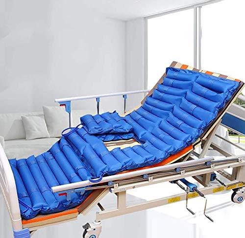 Colchón antiescaras de aire alternante, Presión alterna colchón inflable, bomba de presión desmontable y la almohadilla de ratón, con la prevención de úlceras cuña, el tratamiento reposo en cama