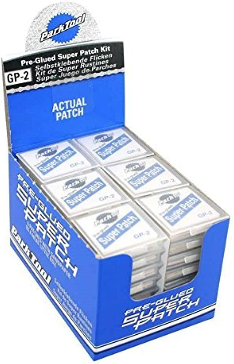 Park Tool Glueless Super Patch Kit (Box of 48) by Park Tool