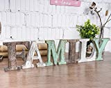 TIMEYARD Wood Family Signs Wall Decor,...