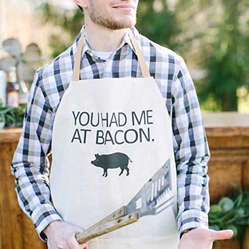 """Schürze mit Aufschrift \""""You Had Me At Bacon\"""", Grillschürze, Männerbekleidung, Einweihungsgeschenk, Küchendekoration"""