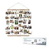 AIEVE Cadres Photo Collages,Cadre Photo Mural avec Porte-photo en Corde avec 30 Petites Pinces Beau Cadeau de...