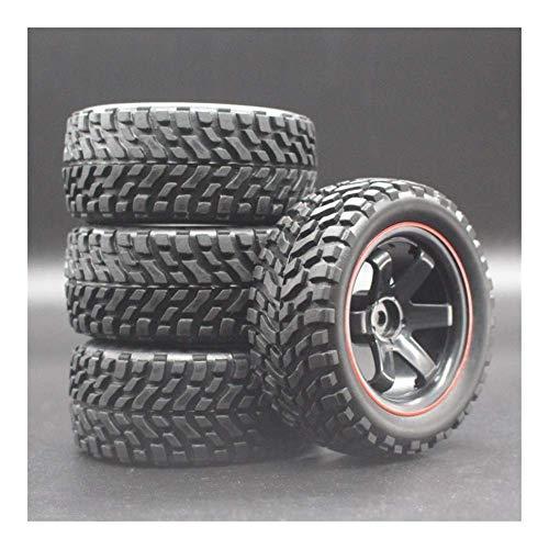 V-MAXZONE Nuevo 4 unids/Lote 1/16 neumático de Rally Buggy Ruedas Todoterreno neumáticos diámetro 75mm Ancho 26mm para HSP 94123 RC Coche repuestos Accesorios