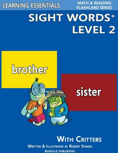 Sight Words Plus Level 2: Sight Words Flash Cards with Critters for Kindergarten & Up (Learning Essentials Math & Reading Flashcard Series) (Bugville Critters Book 65) (English Edition)