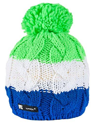 Unisex Beanie hat Bonnet d'hiver chaud Fashion SKI SNOWBOARD Sport doublure polaire 100% Laine (Skippy 99)