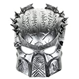 Cool Predator Mask for Halloween Masquerade Cosplay - Silver Gray