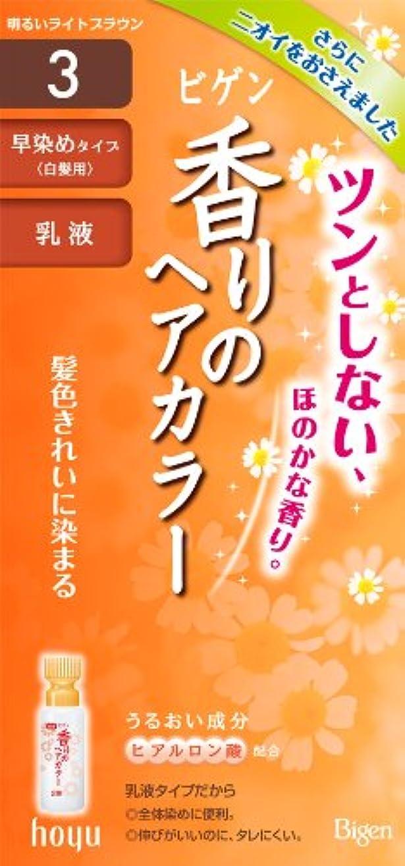 プロペラハックフルーティーホーユー ビゲン香りのヘアカラー乳液3 (明るいライトブラウン) 1剤40g+2剤60mL [医薬部外品]