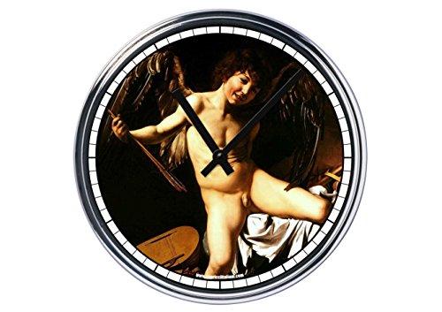 Orologio da partete in acciaio Caravaggio amor vincit omnia
