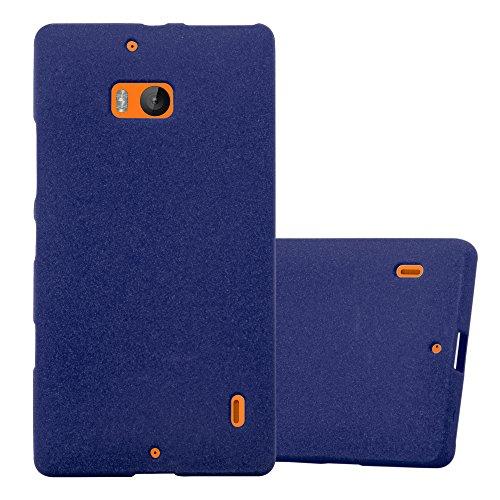 Cadorabo Hülle für Nokia Lumia 929/930 in Frost DUNKEL BLAU - Handyhülle aus flexiblem TPU Silikon - Silikonhülle Schutzhülle Ultra Slim Soft Back Cover Hülle Bumper