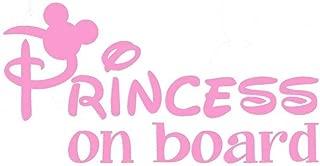 Princess On Board Decal Vinyl Sticker|Cars Trucks Vans Walls Laptop| PINK |6.5 x 3.25 in|CCI1587