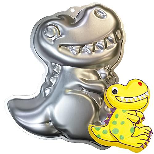 MEZHEN Dino Backform Dinosaurier Kuchenbackform Kindergeburtstag Backform Kinder Motivbackformen 3D Kuchenform Dinosaurier Backformen