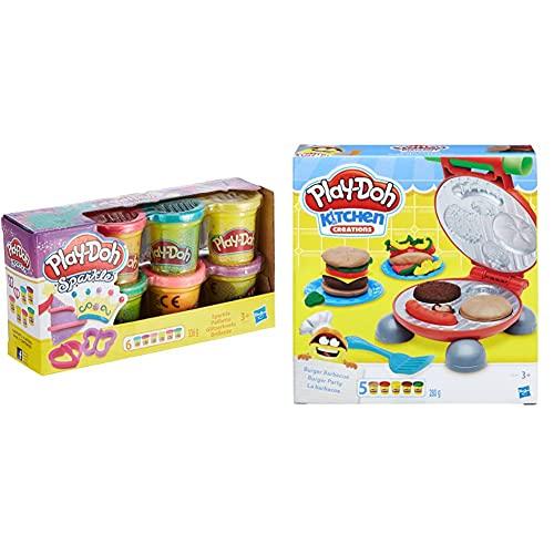 Play-Doh Pack Botes Brillantes (Hasbro A5417Eu9) + La Barbacoa (Hasbro B5521Eu7), Color/Modelo Surtido