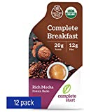 Complete Start Meal Replacement Shake   12 meals - Rich Mocha   Plant-Based   Vegan   Gluten Free Weight Loss, Breakfast Nutritional Supplement   USDA Organic, Dairy Free, Non-GMO  