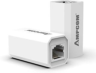 AMPCOM RJ45 Coupler,Inline Coupler,ethernet Coupler,Female to Female,Ethernet Cable Extender Adapter for Cat6/Cat5e/Cat5 1...